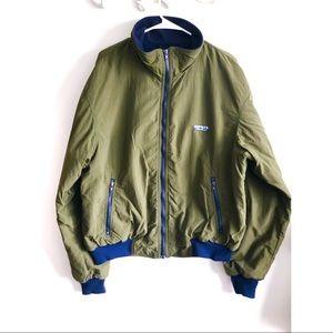 Vintage 90s Eddie Bauer Nylon Outer Fleece Jacket